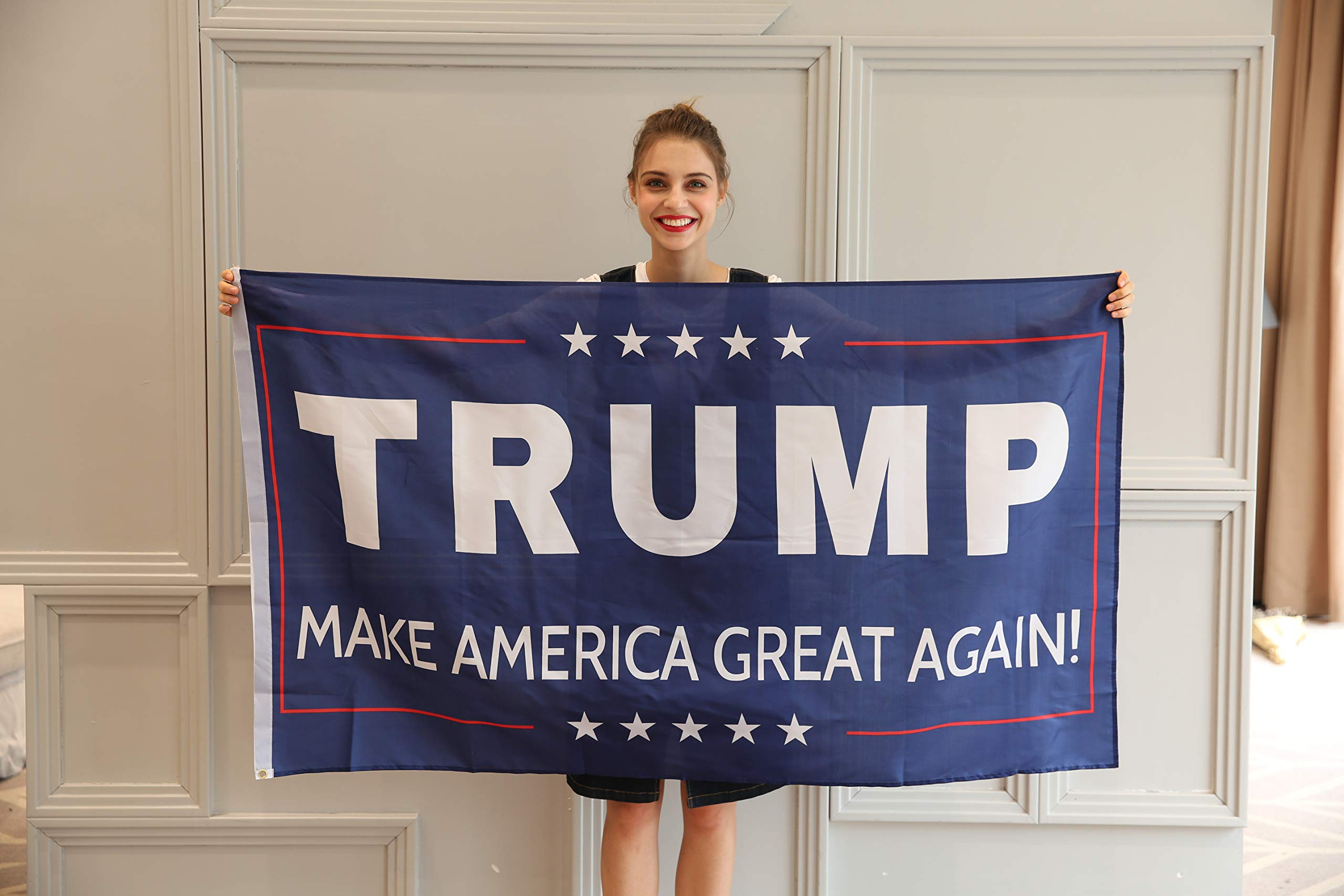 JUNZENIA Trump Flag 3x5 Ft Make America Great Again President Donald Flag