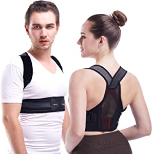Invisible Posture Corrector For Women And Men - Adjustable and Breathable Spine and Back Support - Providing Pain Relief for Back, Shoulders,Improves Posture(L, Waistline 32-39in)