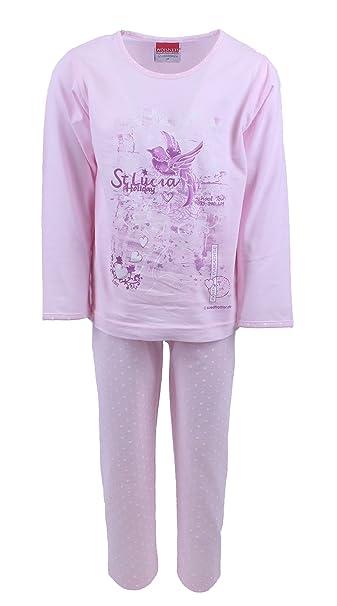 Pijamas para chicas 2 piezas diseño Santa Lucia color rosa, tallas 116-176: Amazon.es: Ropa y accesorios