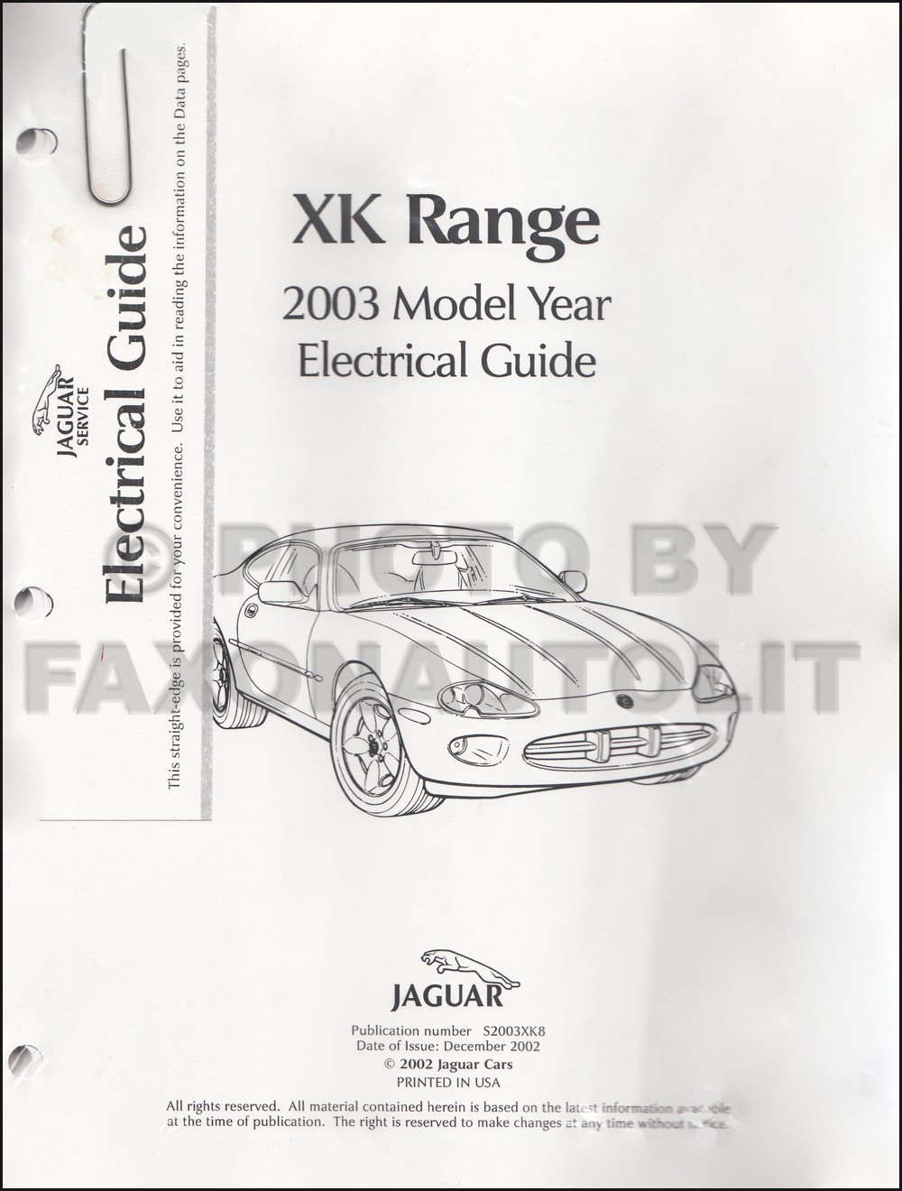 2003 Jaguar XK8 and XKR Electrical Guide Wiring Diagram ... on