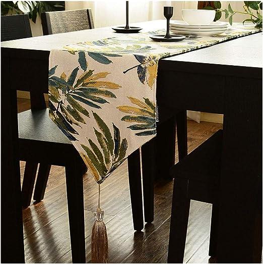 Caminos de mesa Elegante Mesa de Corredor Decorado con Borla ...