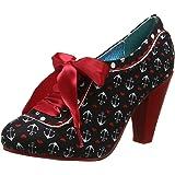 Poetic Licence Backlash Black Red Womens Heels Shoes