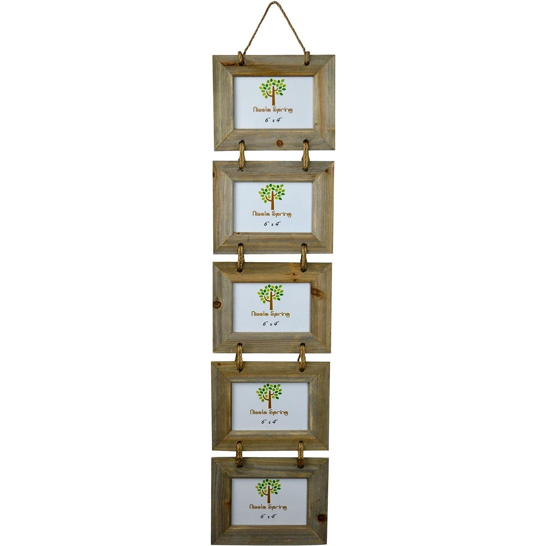 Amazon.de: Bilderrahmen für 5 Fotos - Holz - hängend - 15 x 10 cm (6 ...