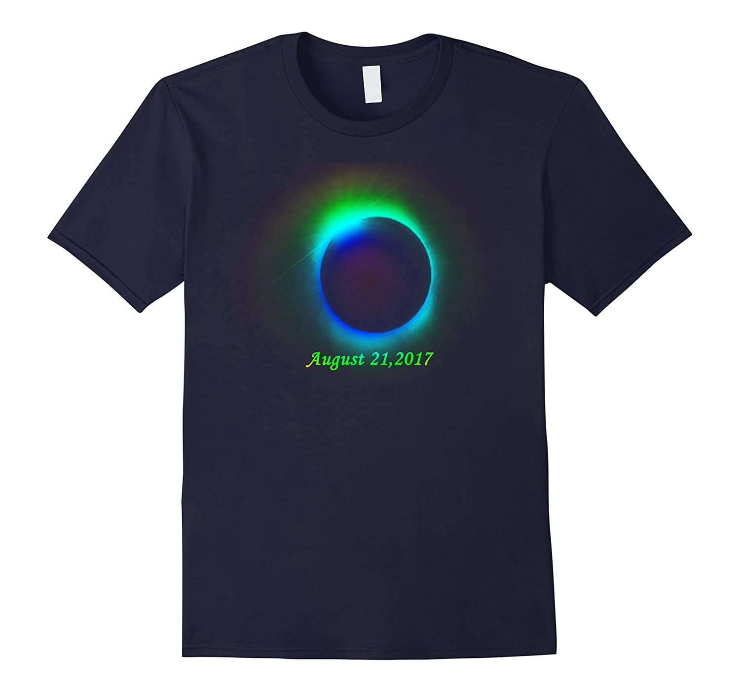 August 2017 Solar Eclipse Tee - Blue Sun Totality Shirt-CL