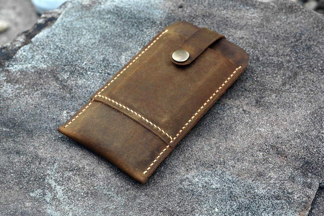 Personalized vintage distressed leather iPhone sleeve card holder wallet for iPhone XS/iPhone XS Max/iPhone XR/iPhone X/iphone 8 plus/iphone 7 Plus/iphone 6 6s Plus IP05SCP