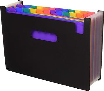 Expanding File Folder//24 Pockets A4 Accordion File Organizer//Multicolor Portable