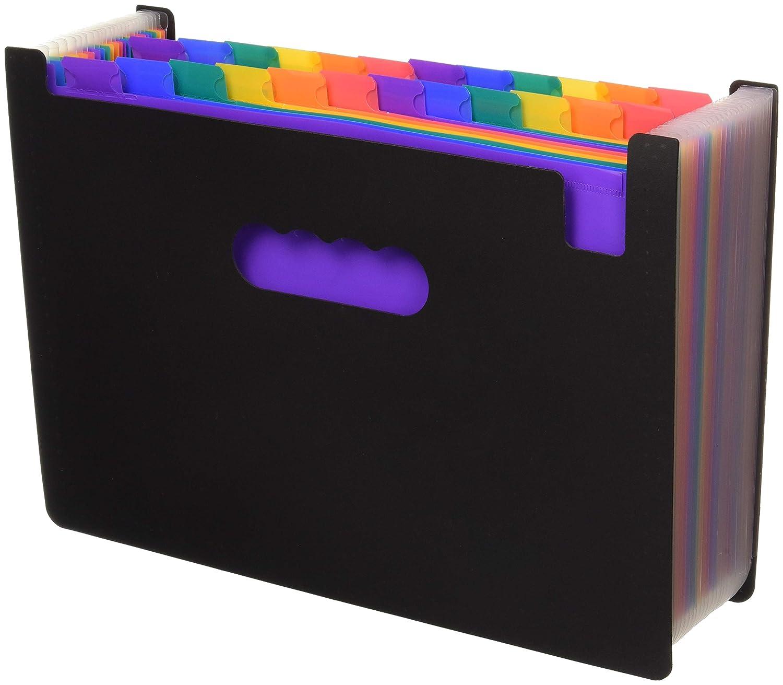 3882df6e7637 24 Pockets Expanding Files Folder/ A4 Expandable File Organizer/Portable  Accordion File Folder/High Capacity Multicolour Stand/Plastic Business File  ...