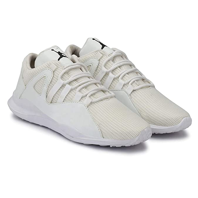 ba67f1840b52 DIGITUS CRUCIS Men s Synthetic White Jordan Casual Sneaker Shoes  Buy  Online at Low Prices in India - Amazon.in