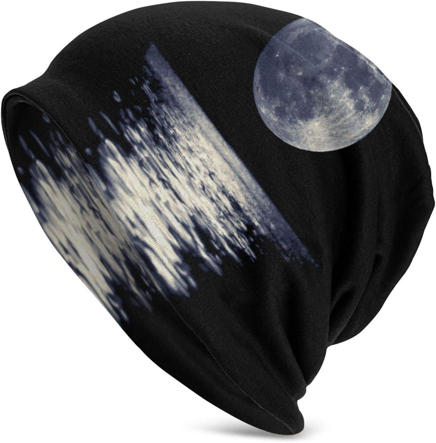 QUEMIN Suegra Luz de Luna en la Noche Gorro de Calavera de Loro Gorro elástico Gorros Holgados Sombreros de Moda de Punto de Invierno para Mujeres Hombres