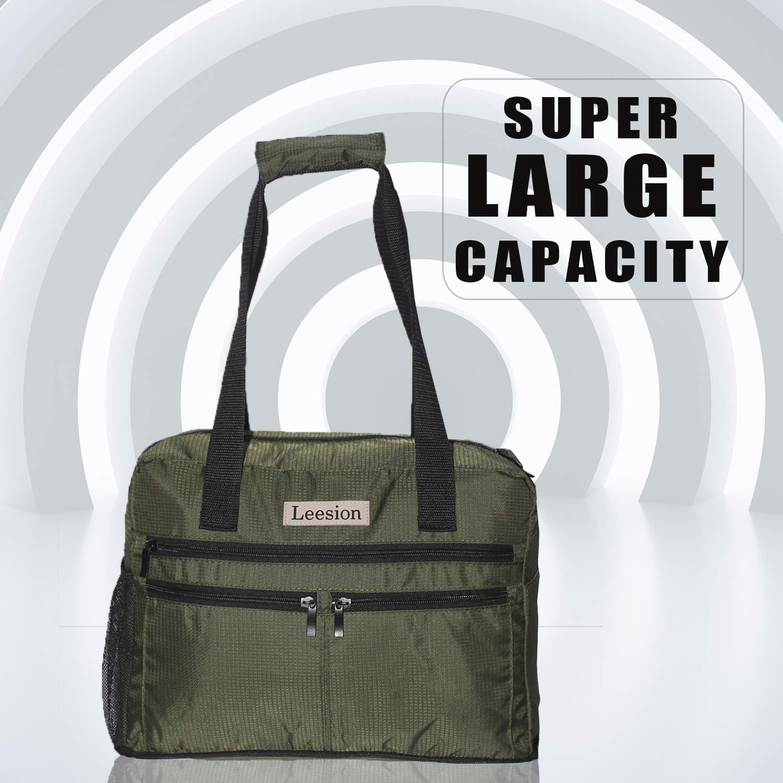 Leesion Duffel Bag Folding Travel Bag for Men and Women Gym Bag Sports Waterproof Portable Luggage Bag