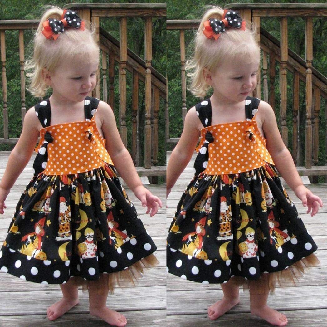 f2154e01c1cc Amazon.com  Zara Baby Girl Clothes Ariel Baby Clothes Godmother Baby  Clothes Infant Toddler Baby Girls Pumpkin Bow Party Dress Halloween Clothes  Dresses ...