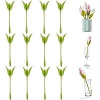 Servilleteros Bloom, soporte de plástico para servilletas, soportes de flores giratorias en forma de tallo verde para…