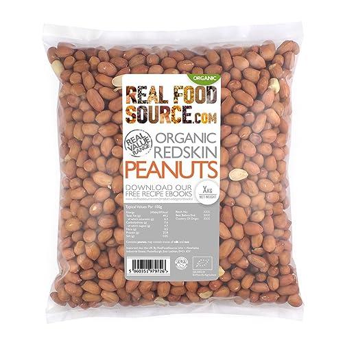 RealFoodSource Certified Organic RedSkin Peanuts 1kg