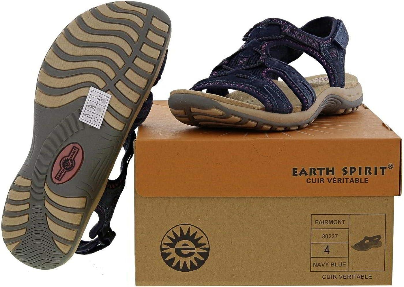 Sizes 3,4,5,6,7,8 Earth Spirit Fairmont Womens Navy Blue Sandal