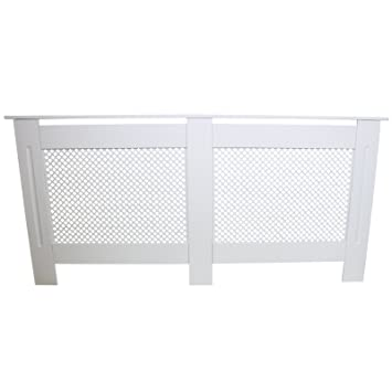 MonsterShop - Cubreradiador para Esconder Radiadores en MDF Blanco 1720mm