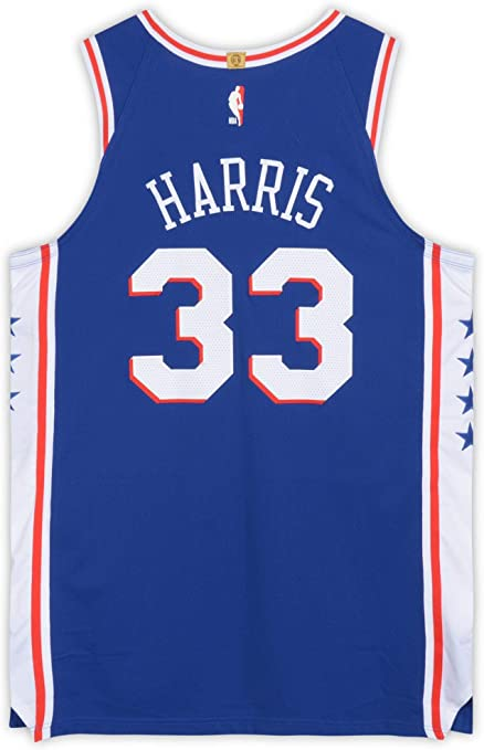Tobias Harris Philadelphia 76ers Player-Issued #33 Blue Jersey ...