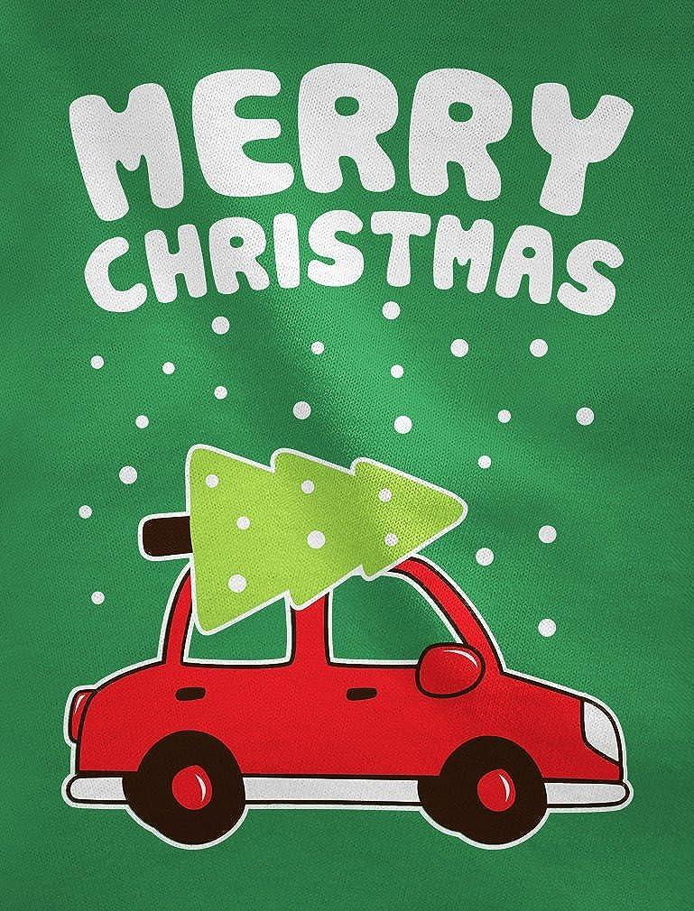 Merry Christmas Xmas Tree on Car Cute Xmas Toddler//Kids Long Sleeve T-Shirt