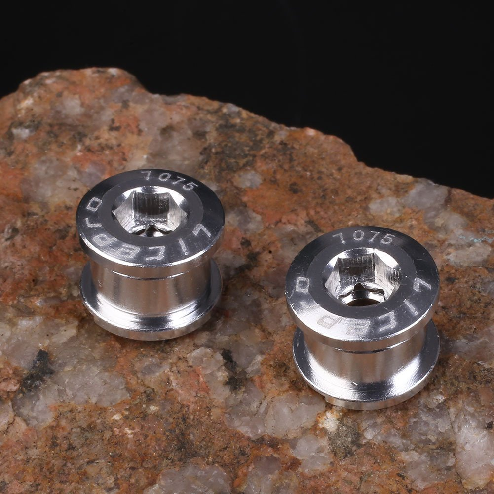 Beautyrain Aleación de aluminio Chainring dobles tornillos ...