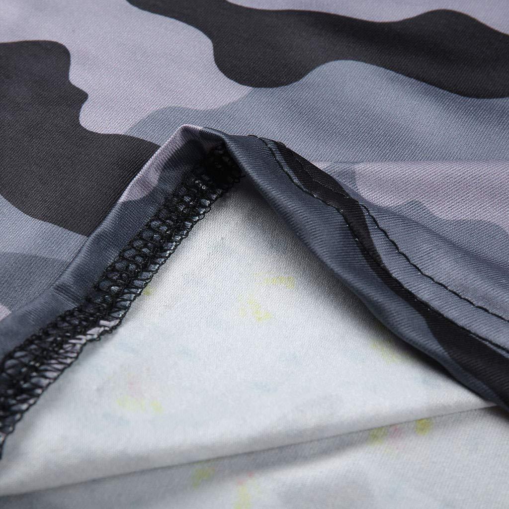 Qingsiy Blusa Verano Camisetas Chaleco Mangas Cortas Sexy con ...