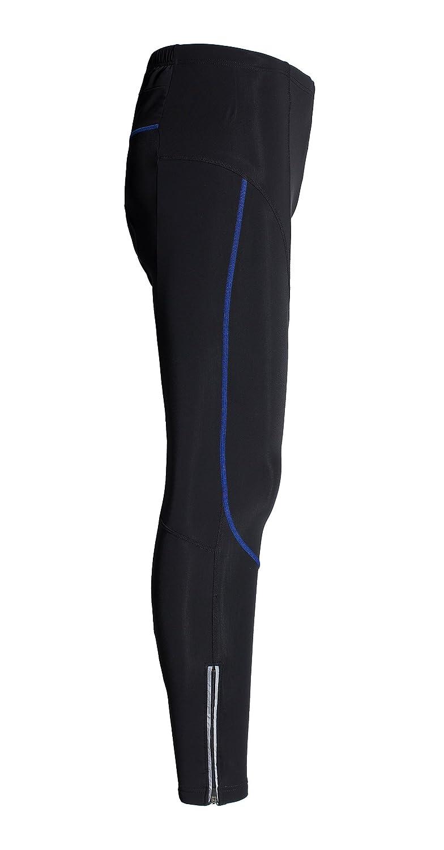 KORAMAN Mens Cool Cycling Compression Tights Zipped Pocket Thermal Gel Padded Breathable Bike Pants