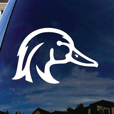 "SoCoolDesign Wood Duck Car Window Vinyl Decal Sticker 5\"" Wide (White): Automotive [5Bkhe0105420]"