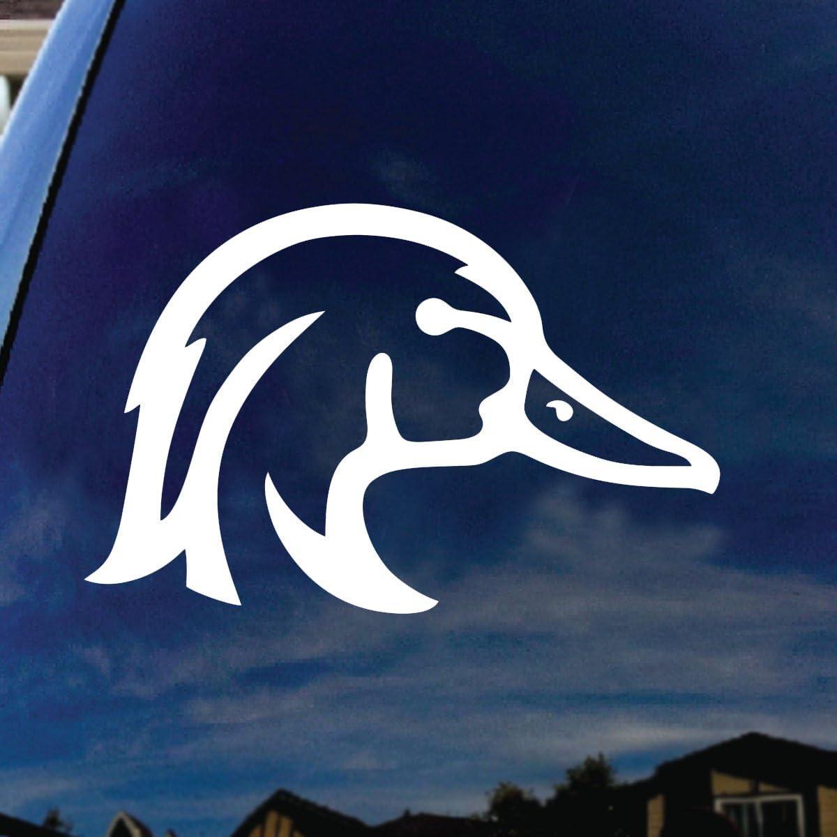 "Duck Heart Window Sticker Decal 5/"""