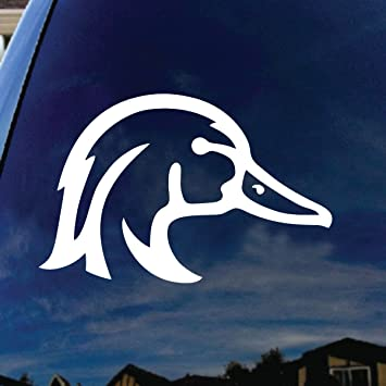 Amazoncom Wood Duck Car Window Vinyl Decal Sticker Wide - Hunting decals for truckshuntingfishing window decals in white or camouflage at woods