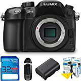 Panasonic Lumix DMC-GH4 Mirrorless Micro Four Thirds Digital Camera (Body) + Pixi-Starter Accessories Bundle