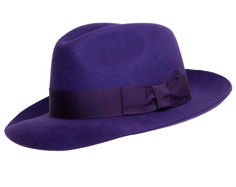 New Purple Wool Trilby Fedora Hat  Amazon.co.uk  Clothing b9ca67237e6