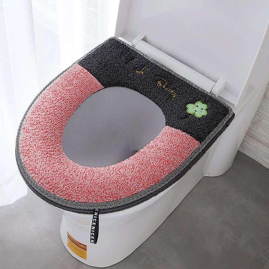 Housse de si/ège de toilette en peluche douce et chaude avec fermeture /éclair jaune