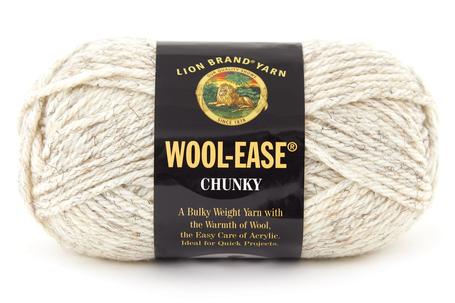 Amazon Lion Brand Yarn 630 402 Wool Ease Chunky Yarn Wheat