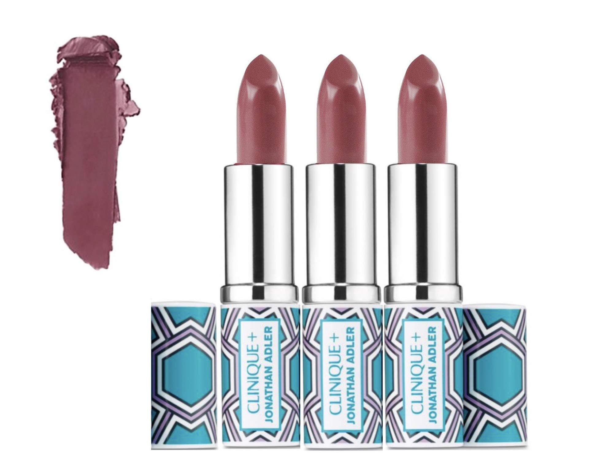 Lot 3 x Clinique Pop Lip Colour +Primer Rouge Intense + Base #14 Plum Pop unbox Travel Size 0.13 oz each total 0.39oz by Clinique