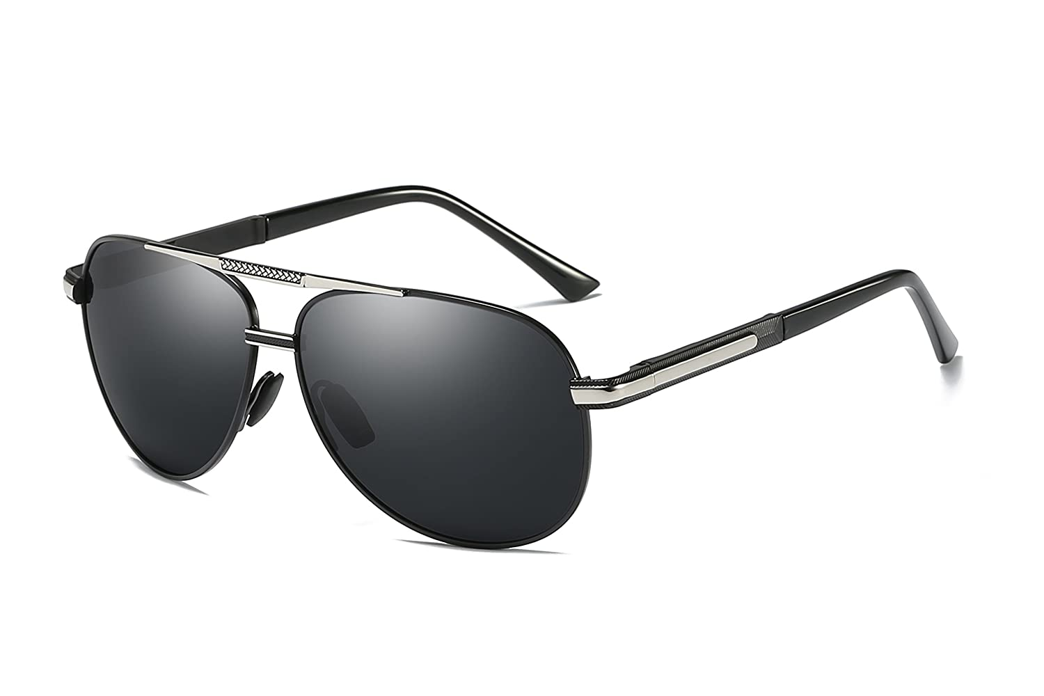 62cd643e4c83 metal frame. Composite lens. Polarized sunglasses reduce glare reflected  off of roads