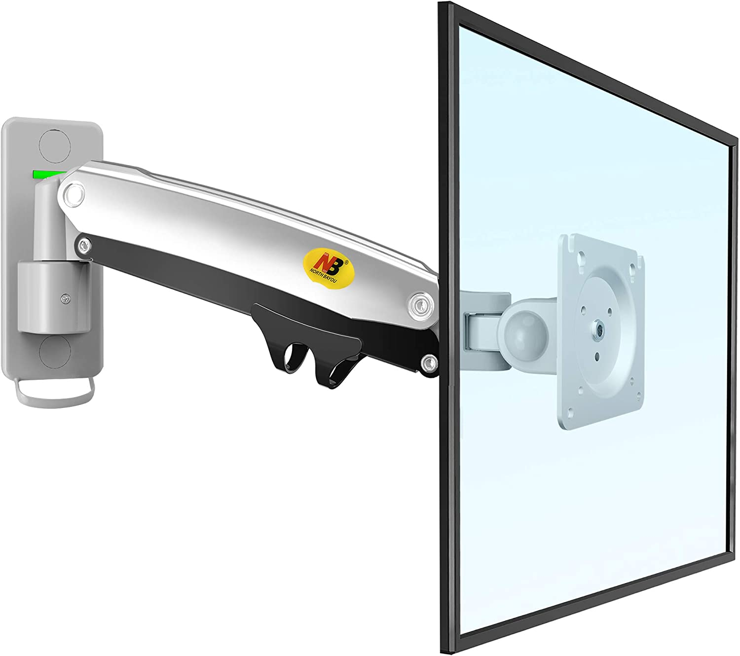 "NB North Bayou Monitor Wall Mount Bracket LED LCD Computer Monitor Mount Gas Strut Arm Fits 24""- 35"" Computer Monitors Within 6.6lbs to 26.5 lbs F425-S"