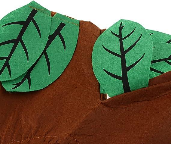 Disfraz Vegetal Árbol Actuación Sombrero Verde Marrón Bosque Tejido Rígido Traje Atractivo Dibujo Animado Semana de Libro: Amazon.es: Juguetes y juegos