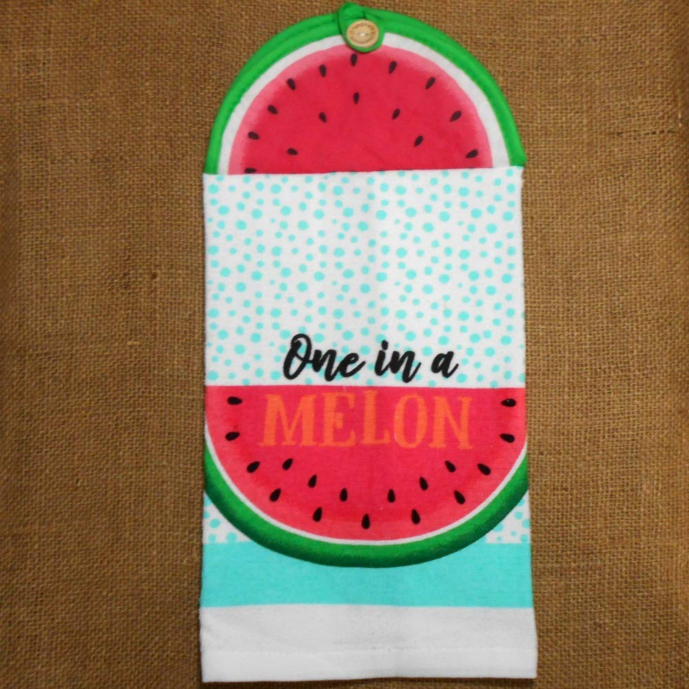 Dishwashing Handcrafted Fruit Themed Kitchen Decor One In A Melon Hanging Dish Towel Cloths Towels