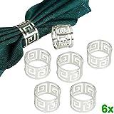 Hrph Decoración decoración de la tabla 6pcs servilleta anillos Servilletero Cena West servilleta de la toalla del partido del anillo