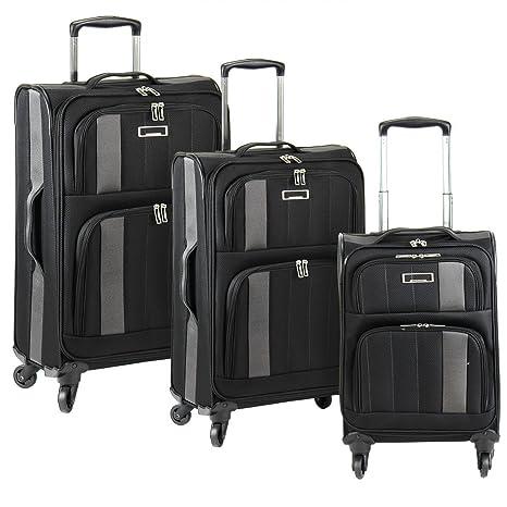 Wagner Luggage - Juego de maletas de poliéster Mujer, azul marino (Azul) -