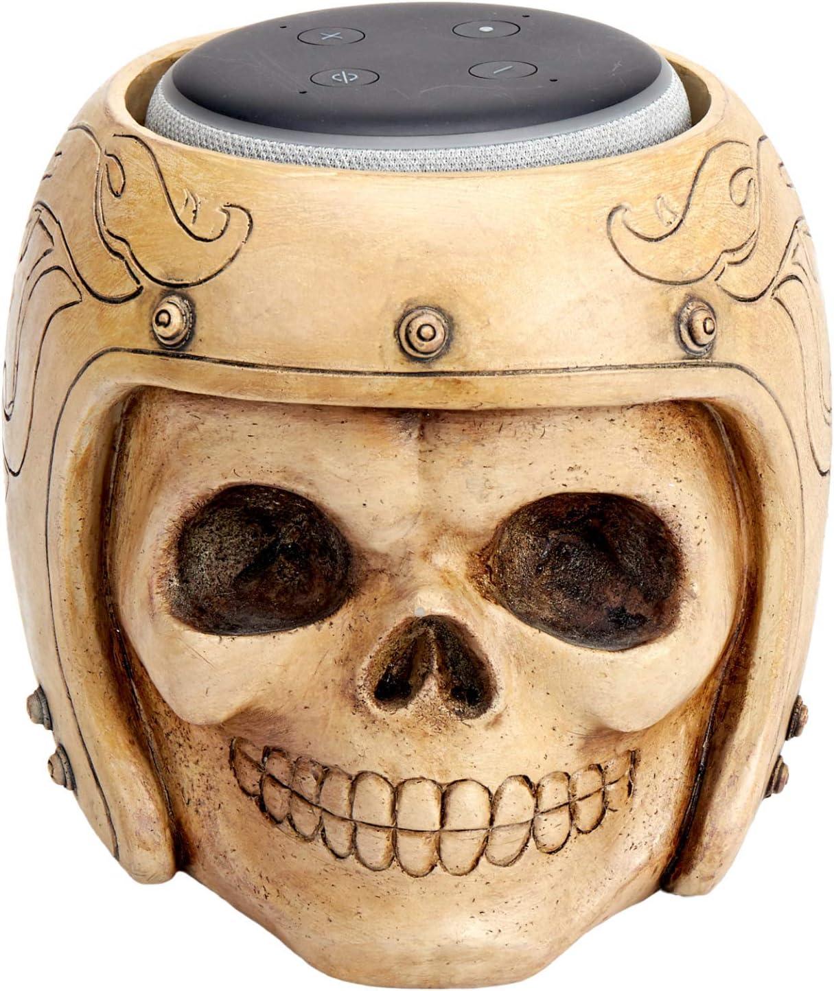 Echo Dot Stand,Smart Speaker Stand Holder for Echo Dot 3rd Generation,Speaker Holder,Skull Statue Crafted,Home,Offfice,Living Room Decorations