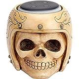 Skull Statue Crafted - Smart Speaker Stand Holder for Echo Dot 3rd Generation Speakers Holder Best Gift Idea for Smart Home, White