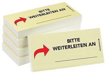 """10 Stück 100 Blatt rot PRICARO Haftnotizen /""""Nach Unterschrift zurück/"""""""