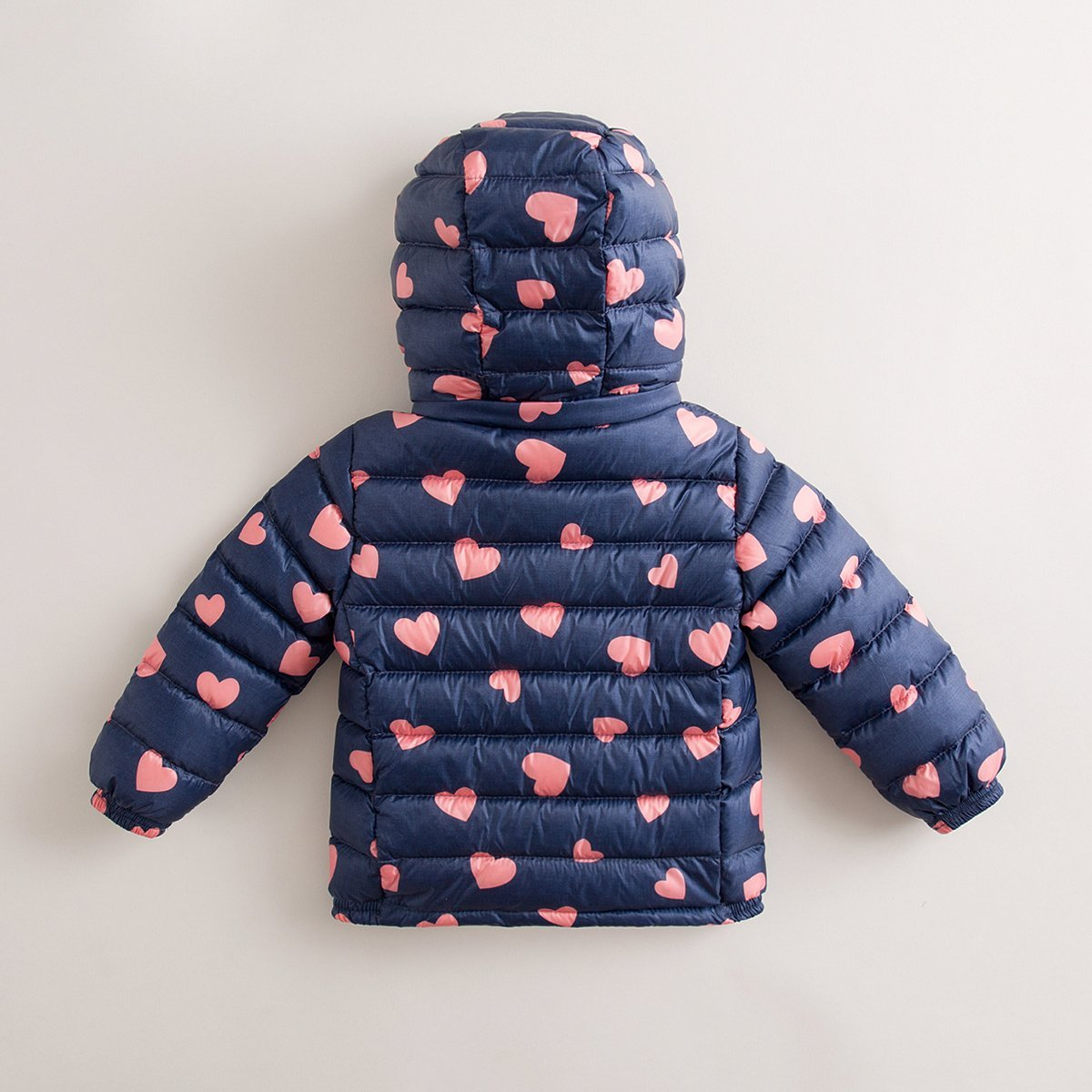 marc janie Baby Boys Girls Kids' Outerwear Ultra Light Down Jacket with Removable Hood 6T Blue Pink Love by marc janie (Image #1)