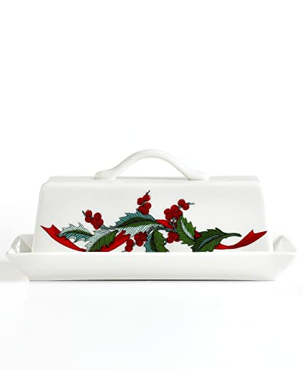 Martha Stewart Collection Dinnerware Holiday Garden Covered Butter Dish  sc 1 st  Amazon.com & Amazon.com | Martha Stewart Collection Dinnerware Holiday Garden ...