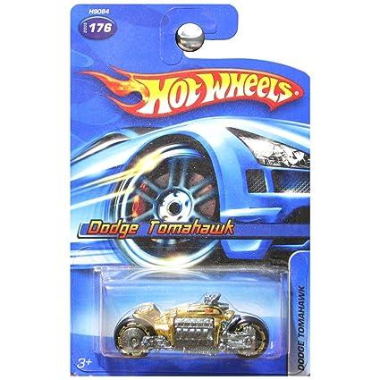 Amazon.com: Hot Wheels Dodge Tomahawk Motorcycle Gold #176 No Series on
