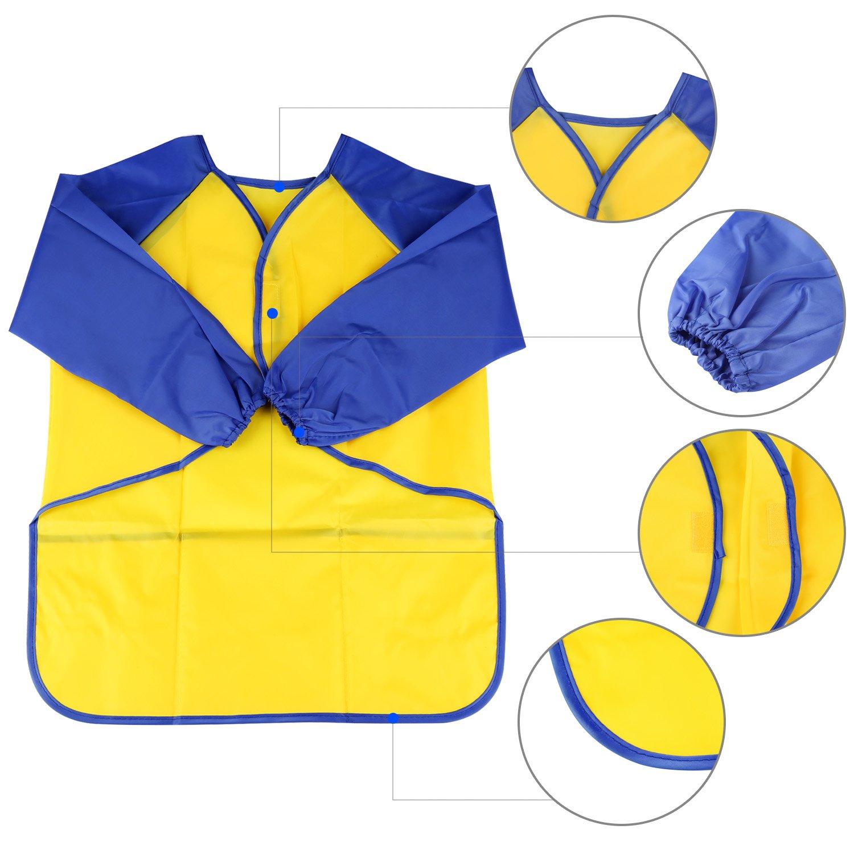 2 Pack Delantal para Cocina y la Pintura para 3-6 A/ños Ni/ños Azul and Rojo BelleStyle Delantales de Ni/ños Pink and Yellow