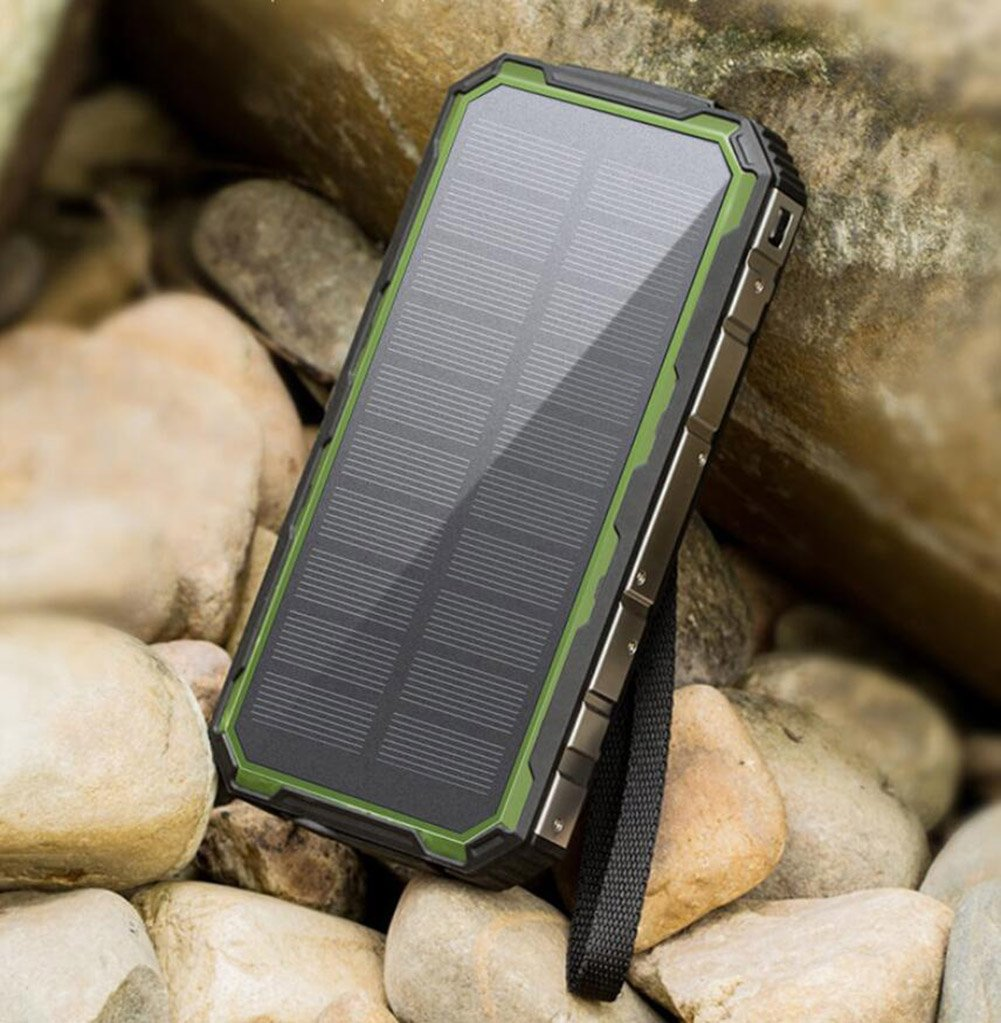 XZB Solar Charger, 50000mAh Solar Power Bank Dual USB Backup Battery Pack Charger, Outdoor Portable Solar External Battery Charger With Led Flashlight For Hiking, Camping, More (Color : A) by XZB (Image #4)