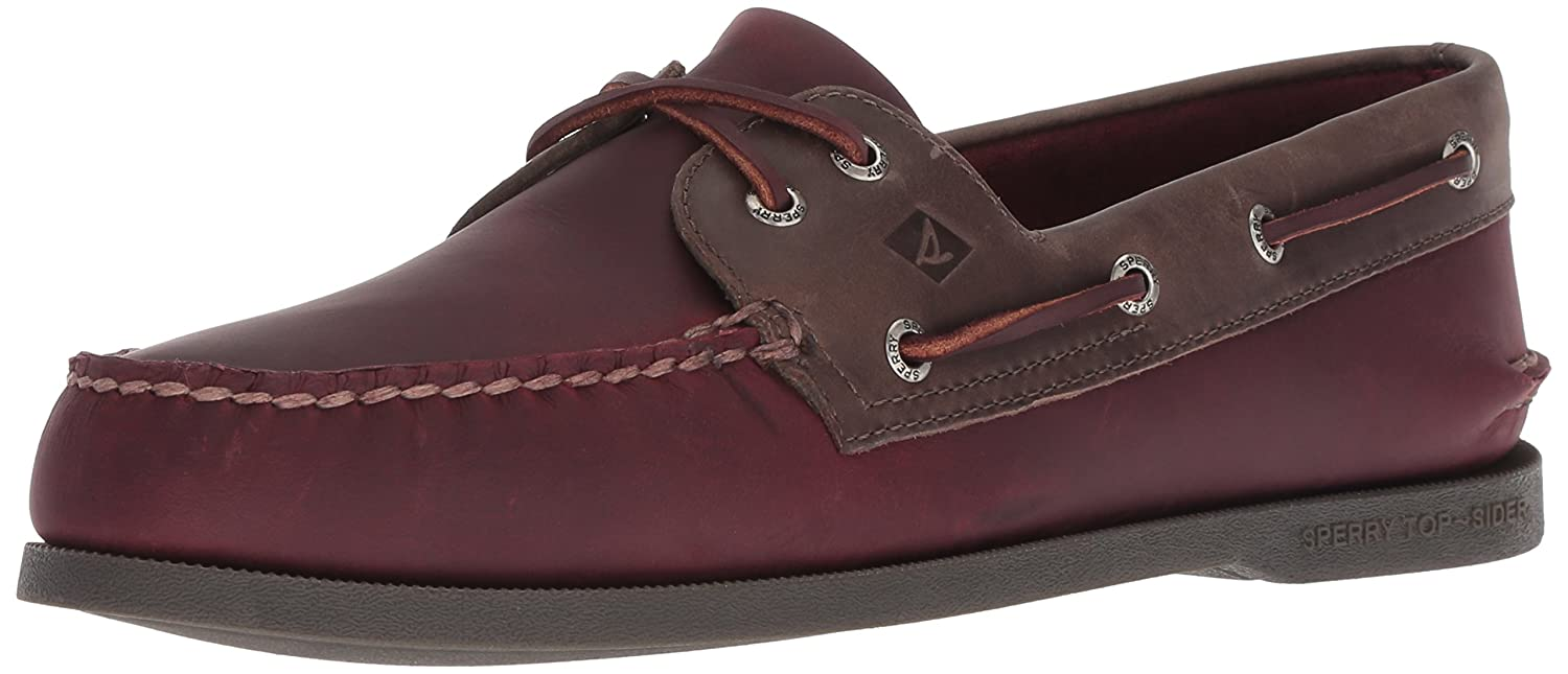 Burgundy gris Sperry Top-Sider - Chaussure Bateau 2 Oeil Pullup Pullup Pullup A O Homme dff