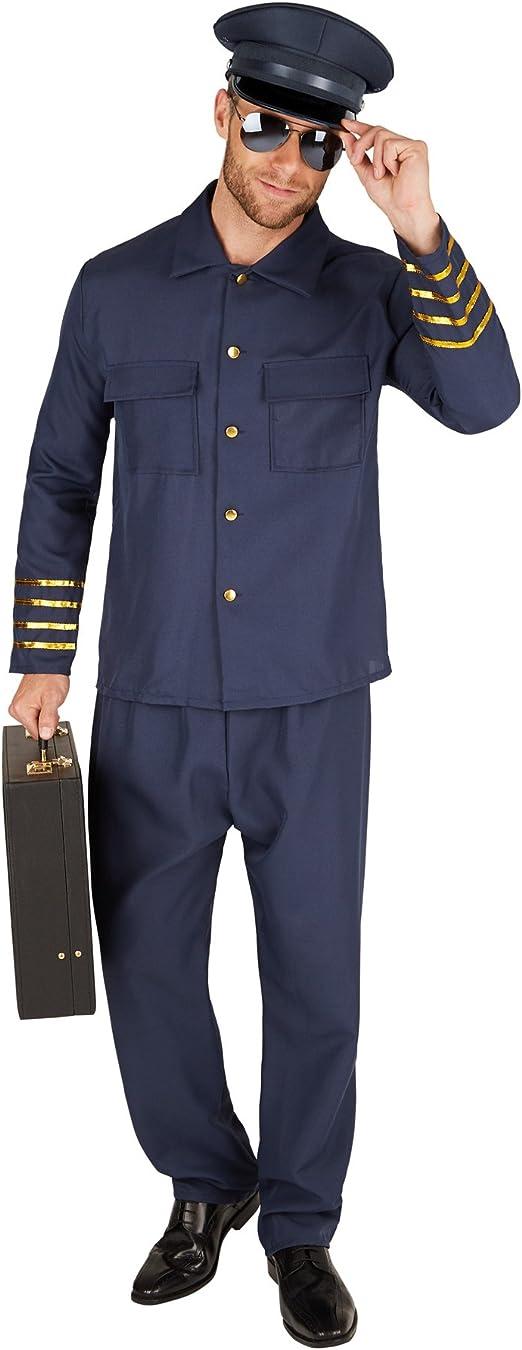 TecTake dressforfun Disfraz de Piloto para Hombre | Preciosa Camisa de piloto | Cómodos Pantalones (XXL | no. 301443): Amazon.es: Juguetes y juegos