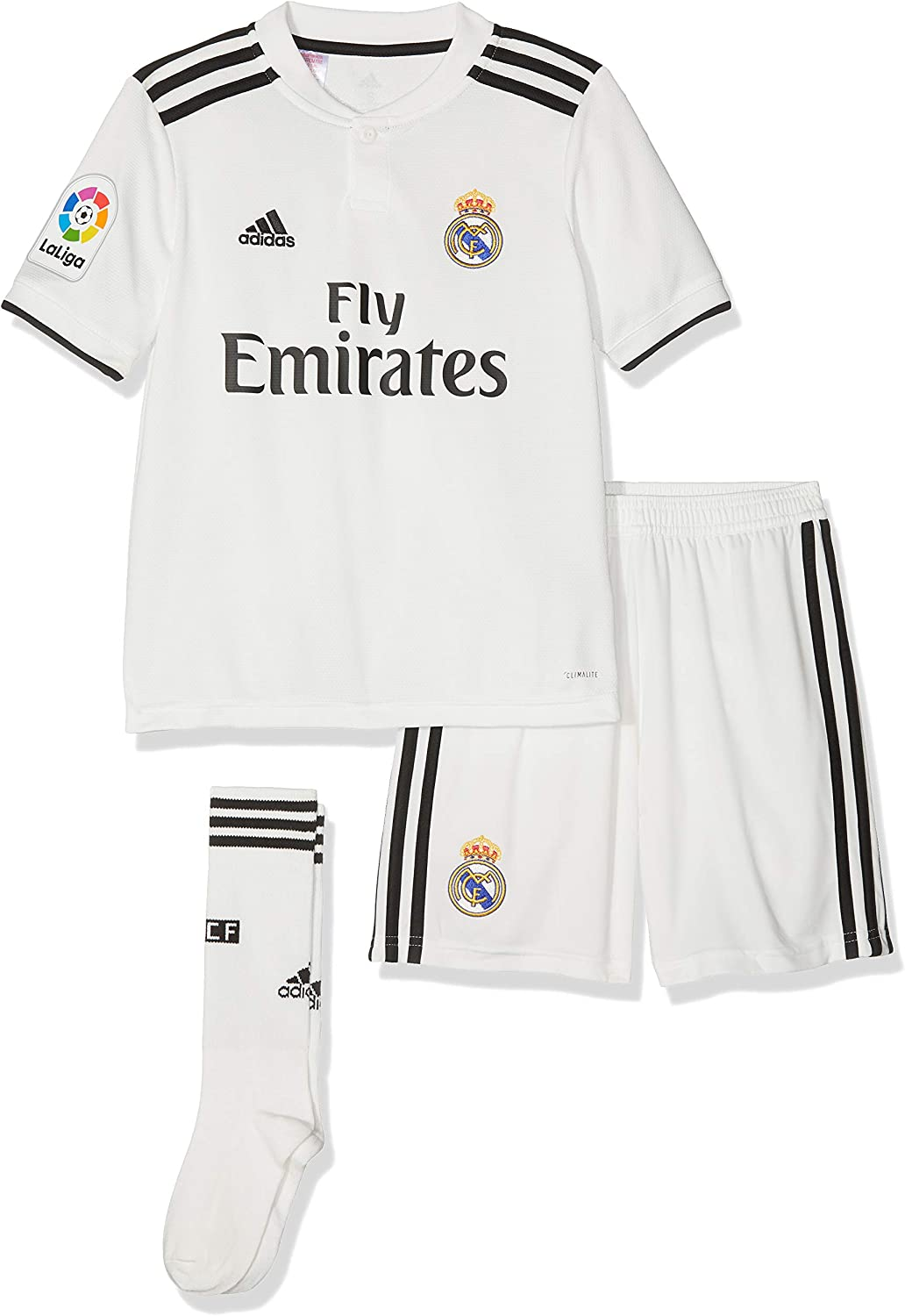adidas Unisex Kids Real Madrid Home Mini Kit: Amazon.co.uk: Clothing