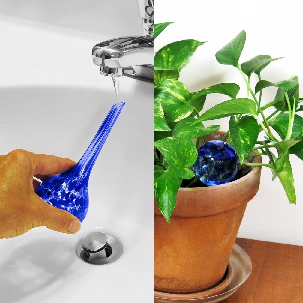 Evelots Plant Watering Globe-Glass-Automatic Water System-Indoor//Outdoor-Set//3